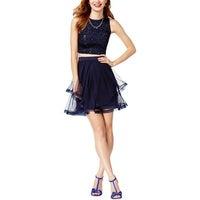 5320c29f6bb Shop Teeze Me Womens Juniors Semi-Formal Dress Metallic Halter - 13 ...