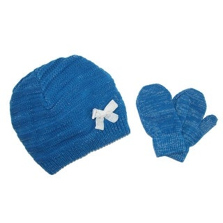 CTM® Infant's 0-2 Beanie with Bow and Mitten Set