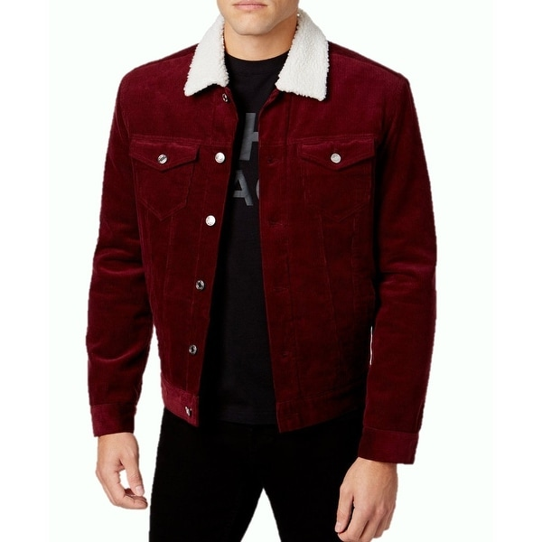 Shop Shaun White New Red Port Mens Size Small S Corduroy Sherpa