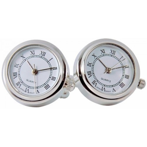 Father's Day Watch Clock Time Cufflinks
