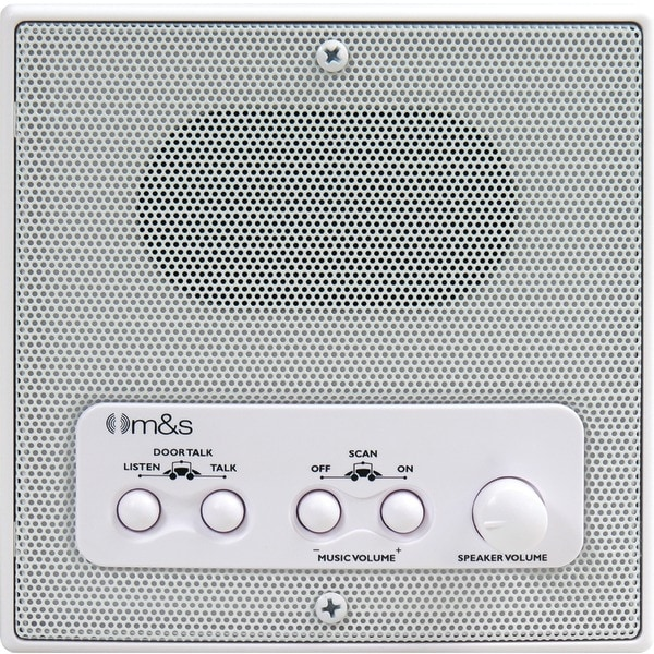 """M&S Systems Dmc4Rs 5"""" 4-Wire Indoor Radio Remote Scan Station (White)"""