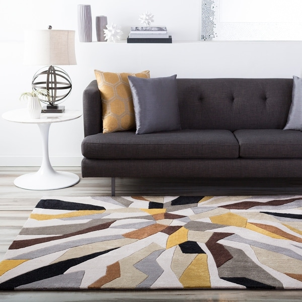 Hand-Tufted Barnes Contemporary Abstract Area Rug