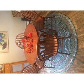 Charisma Indoor/Outdoor 6-foot Round Braided Rug by Rhody Rug