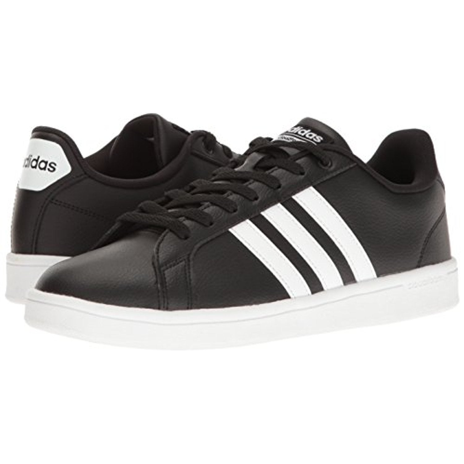 adidas NEO Men's Cloudfoam Advantage Sneaker, Black/White/White