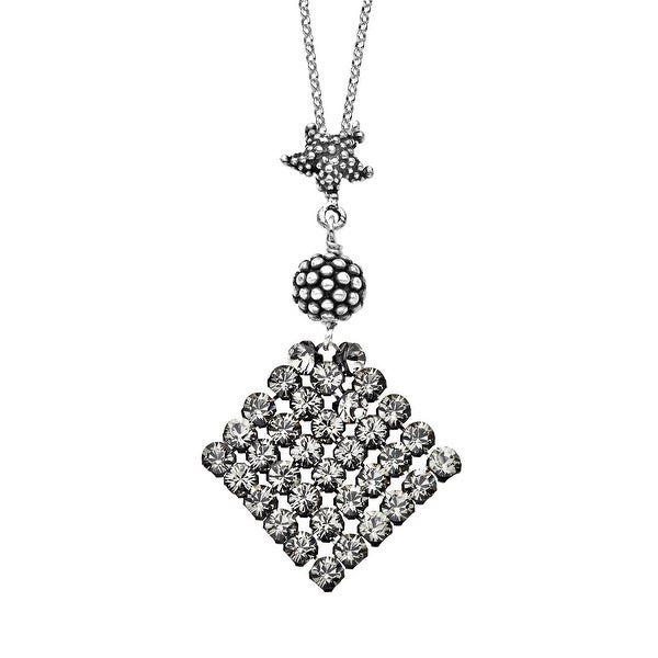 Aya Azrielant Mesh Pendant with Swarovski elements Crystals in Sterling Silver