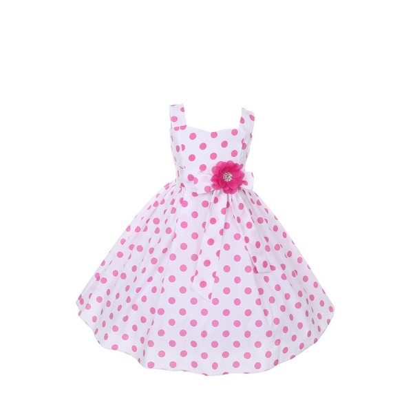 a79fb1fb41e Shop Cinderella Couture Girls Pink Polka Dots Easter Flower Girl Dress 8-14  - Free Shipping On Orders Over  45 - Overstock - 18164975