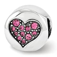 Sterling Silver Reflections Swarovski Elements Oct-Hope Bead (4mm Diameter Hole)