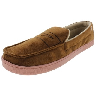 Isotoner Mens Moccasin Slippers Microsuede Smartzone - XL