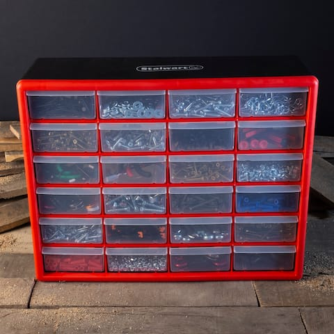 Storage Drawers-Compartment Organizer Desktop or Wall Mount Container by Stalwart