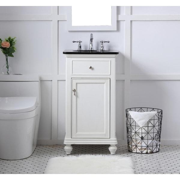Kenzie Bathroom Vanity Cabinet Set with Granite top. Opens flyout.