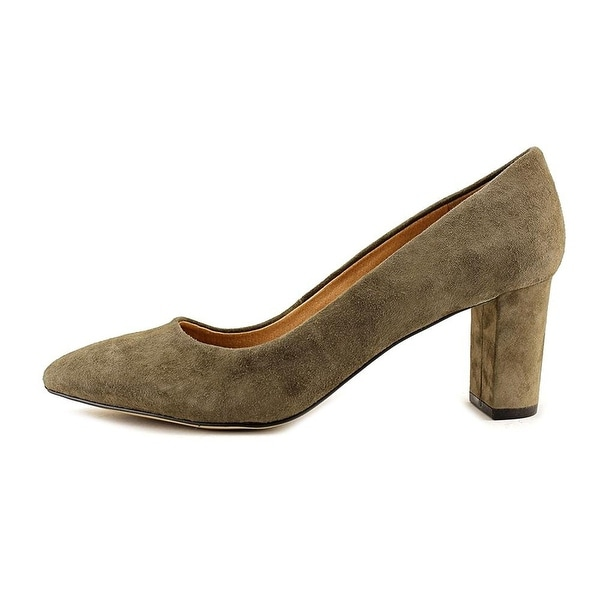 Tahari Womens Tallie Leather Pointed Toe Classic Pumps