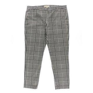 MICHAEL Michael Kors Womens Houndstooth Skinny Casual Pants