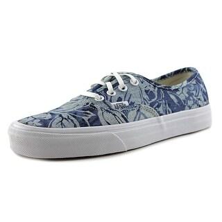 Vans Authentic Women Round Toe Canvas Blue Skate Shoe