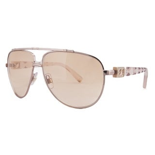 Swarovski SK 0003 72F Rose Gold/Pink Aviator Prismic Sunglasses - Rose Gold/Pink - 61-11-130