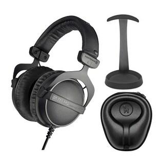 Link to Beyerdynamic DT770 PRO Over-Ear Headphones (Ninja Black) Bundle Similar Items in Headphones