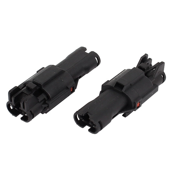 2 Kits 2 Pin Waterproof Connector 2 Way Connector Car Auto Boat ATV UTV RV
