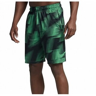 Nike NEW Green Mens XL Geo Print Performance Training Dri-Fit Shorts
