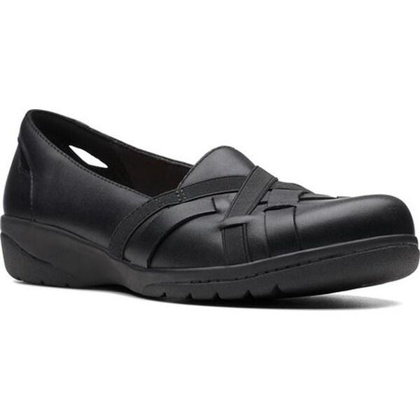 Cheyn Creek Slip-On Black Leather