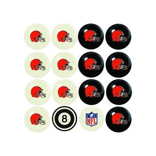 NFL Cleveland Browns Home vs. Away Team Billiard Pool Ball Set