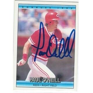 Paul ONeill Cincinnati Reds Autographed 1992 Donruss Card