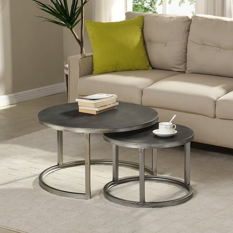 FirsTime & Co. Hayes Nesting 2-piece Coffee Table Set - 27.5 x 27.5 x 16 in