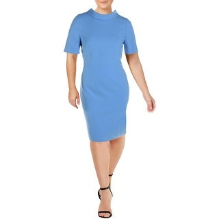Link to Basler Women's Funnel Neck Elbow Sleeve Wear to Work Dress - Adventure Time Similar Items in Dresses