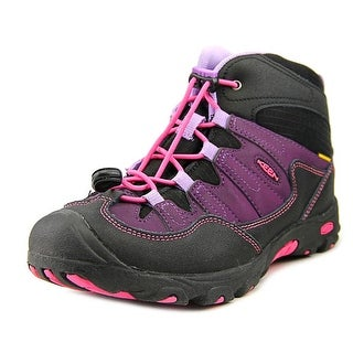 Keen Pagosa Mid WP Youth Round Toe Leather Purple Hiking Shoe