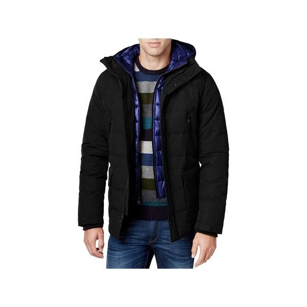 11bd46673e3 Shop MICHAEL Michael Kors Mens Big   Tall Coat Down Hooded - Free ...