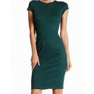 Love...Ady Agave Green Womens Size Large L Cap Sleeve Sheath Dress