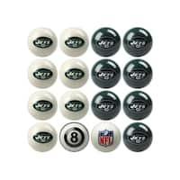 NFL New York Jets Home vs. Away Team Billiard Pool Ball Set