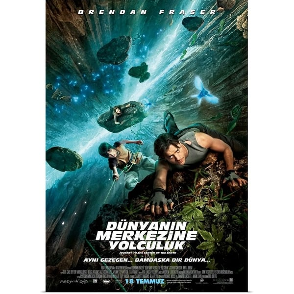 Shop Black Friday Deals On Journey To The Center Of The Earth 2008 Movie Poster Turkish Poster Print Overstock 24138354