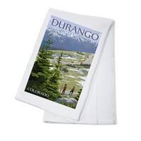 Durango, Colorado - Trail Ridge Road - LP Artwork (100% Cotton Towel Absorbent)