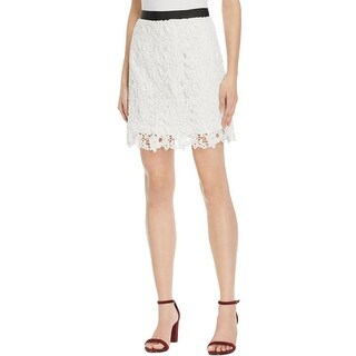 French Connection Womens Mini Skirt Lace Floral