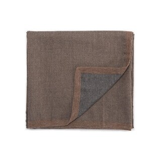 "Brown/Gray Baby Alpaca Throw - LIM01 50""x60"""