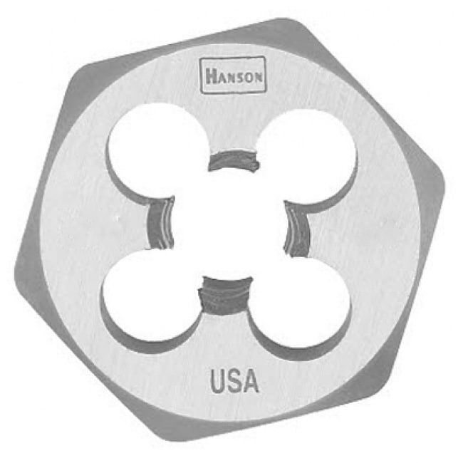 Irwin Tools 9733 Hanson High Carbon Steel Hexagon Metric Die, 8 mm - 1.00