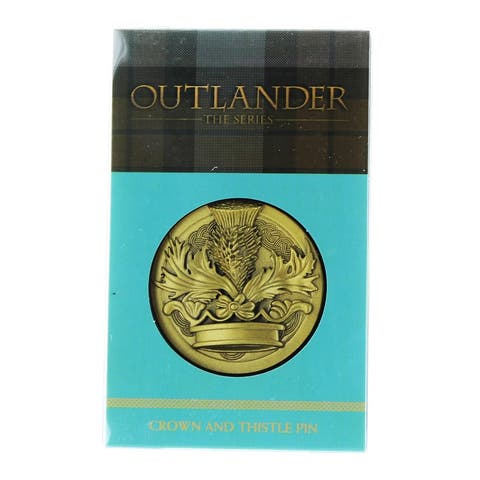 "Outlander Crown & Thistle 1.75"" Lapel Pin - Gold"