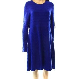 Eliza J NEW Blue Royal Women's Size Large L Sheath Sweater Dress