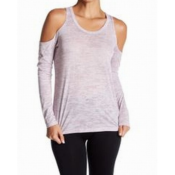 Alternative Women's Cold-Shoulder Heathered Knit Top