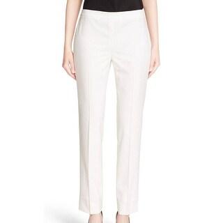 Lafayette 148 NEW White Ivory Women's Size 6 York Bleeker Dress Pants