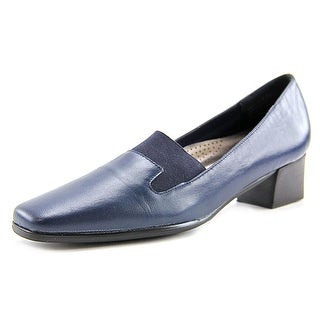 David Tate Lido Women W Open Toe Leather Blue Platform Heel