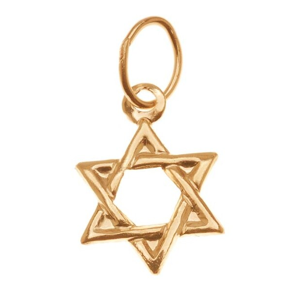 14K Gold Filled Lightweight Jewish Star Of David Charm 11mm (1)