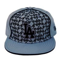 MLB Los Angeles Dodgers New Era 59Fifty Grey LA Fitted Hat Cap - 7 1/4