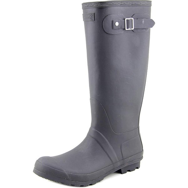 Seven7 British Storm Women Round Toe Synthetic Black Rain Boot