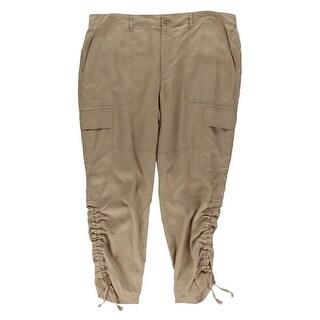 Lauren Ralph Lauren Womens Ilaina Cargo Pants Twill Multiple Pocket