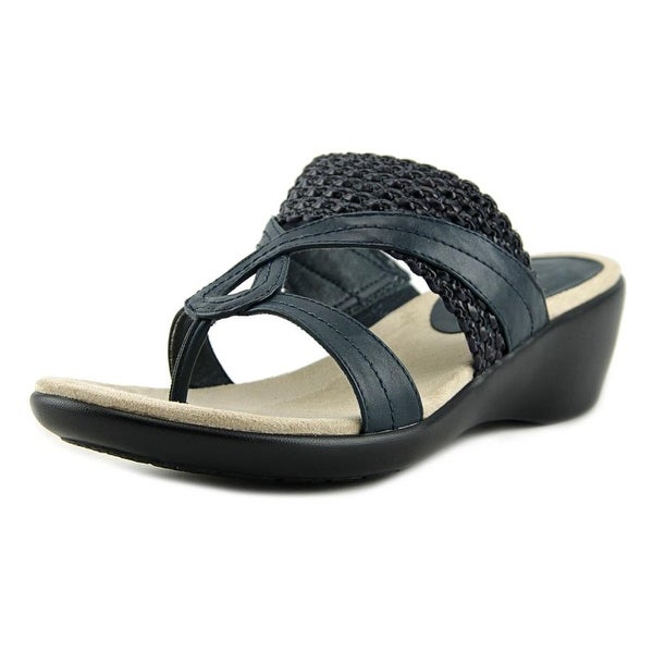 Kim Rogers Penney Open Toe Leather Wedge Sandal