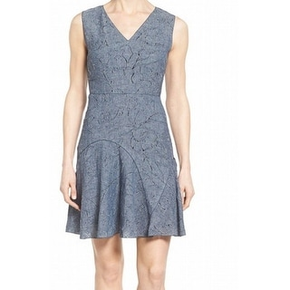 Elie Tahari NEW Blue Seamed Elliot Dress Women's Size 0 Sheath