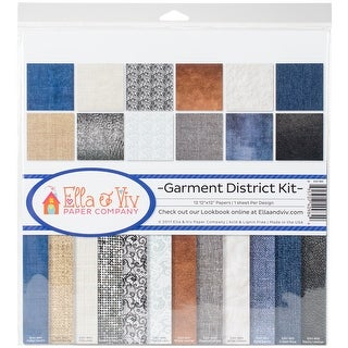 "Ella & Viv Collection Kit 12""X12""-Garment District, 12 Designs/1 Each"