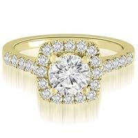 1.02 CT.TW Halo Round Cut Diamond Engagement Ring - White H-I