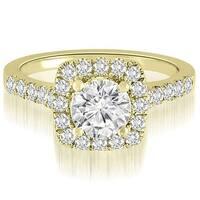 1.27 CT.TW Halo Round Cut Diamond Engagement Ring - White H-I