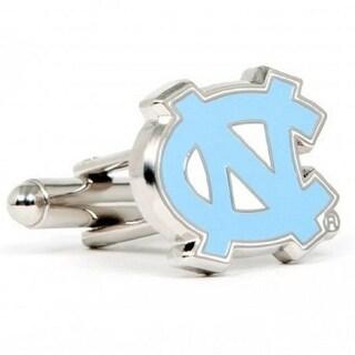Silver Plated University of North Carolina Tar Heels Cufflinks